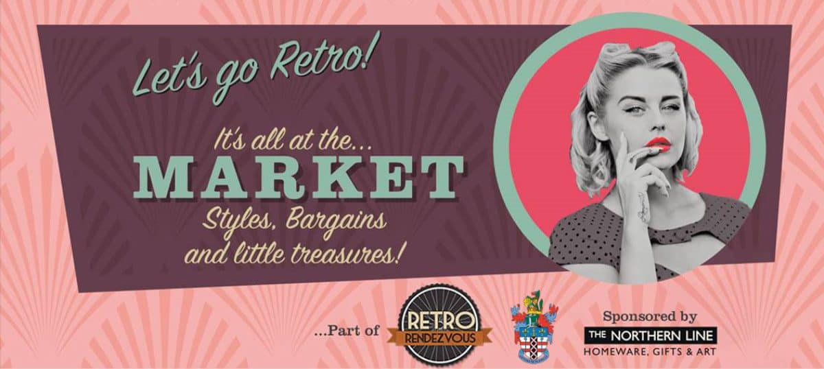 Retro Rendezvous Festival. All at the market. Styles, bargains, and little treasures.