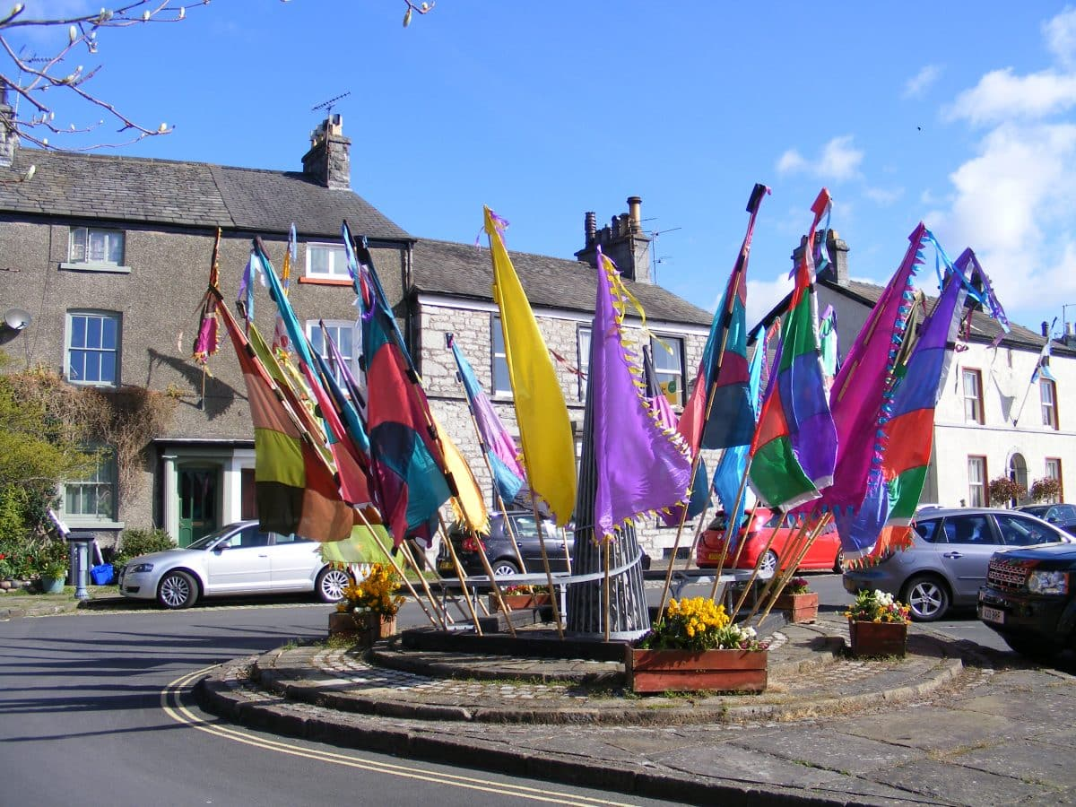 Flag Festival on The Gill Ulverston