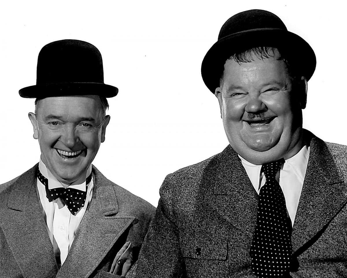Laurel and Hardy, the movie comedy duo, are commemorated by a bronze statue in Ulverston.