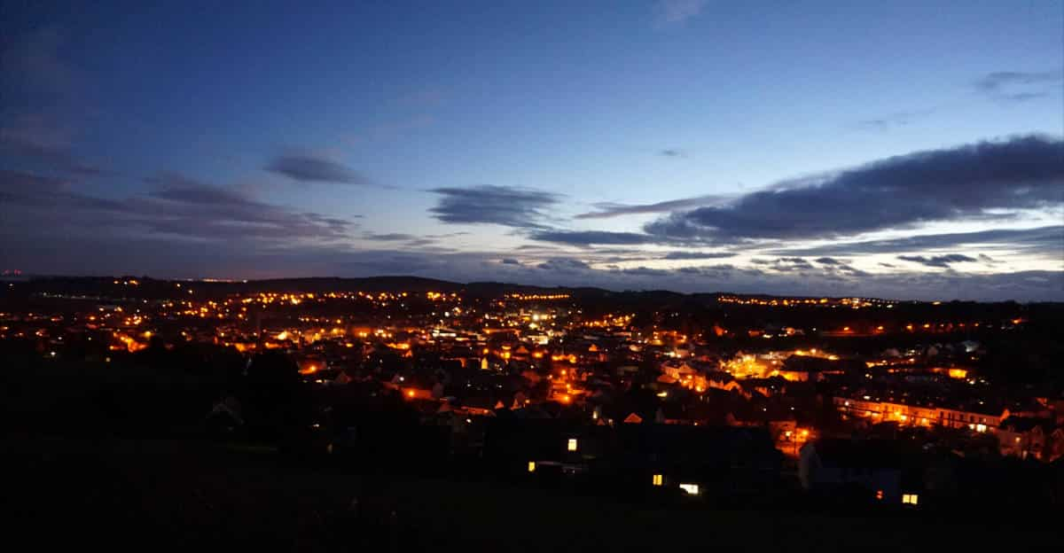 Ulverston at night
