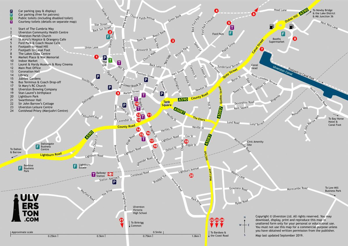 Ulverston Town Map